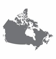 Canada silhouette map vector