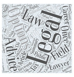 Career Options In Law Word Cloud Concept vector image