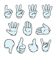 Cartoon hands set vector image
