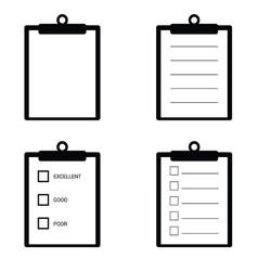 Check list set icon in black vector