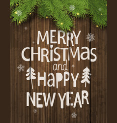 Christmas and new year holiday greeting card vector