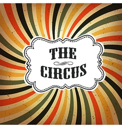 circus retro rays background vector image