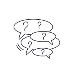 collection of questions line icon concept vector image