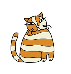 Cute striped cat for your design vector
