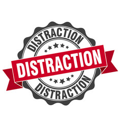 Distraction stamp sign seal vector