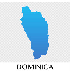 Dominica map in north america continent design vector