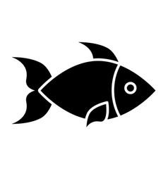 fish solid icon aquatic vector image