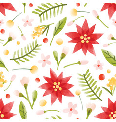 floral seamless pattern with gorgeous blooming vector image