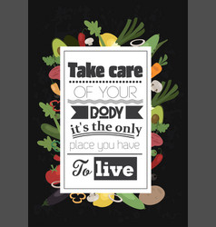 Food quote white paper vector