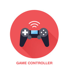 Game controller flat style icon wireless vector