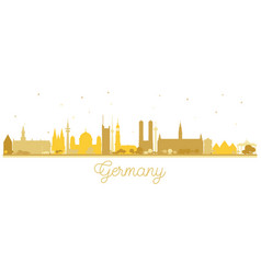 germany city skyline silhouette with golden vector image