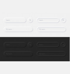 Google search bars in different variations ui vector