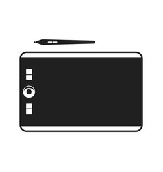 graphic tablet with stylus pen for touch screen vector image