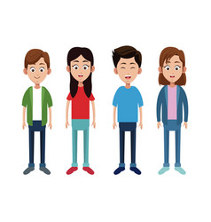 Group children little family vector