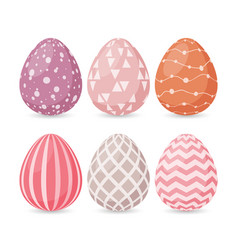 happy easter design set of easter eggs with vector image