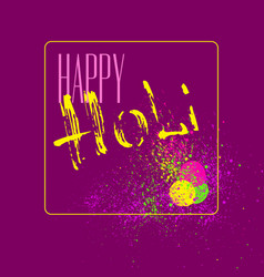 happy holi car vector image