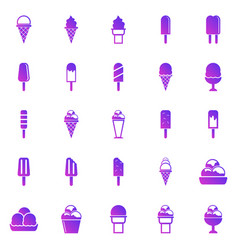 ice cream gradient icons on white background vector image