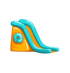 Inflatable slide amusement park bouncy equipment vector