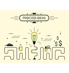 Infographics process ideas vector image