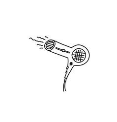 Informative flyer sketch hair dryer semicircle vector