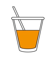 Juice glass design vector