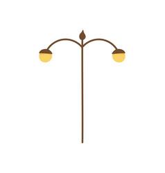lamp post street light icon vector image