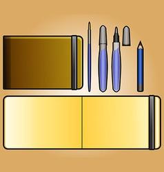Landscape sketchbook vector