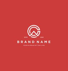 Letter ca logo design vector