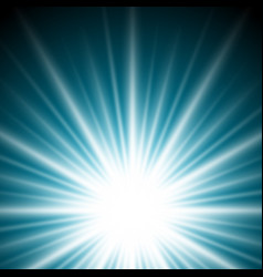 lighting effect sunburst or sunbeams on dark blue vector image