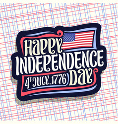 Logo for independence day of usa vector