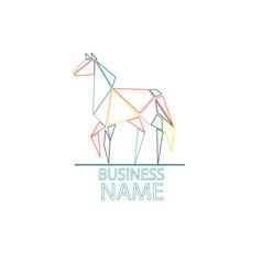 Logo horse color vector