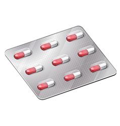 Medical capsules vector