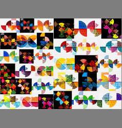 mega collection of geometric shape abstract vector image