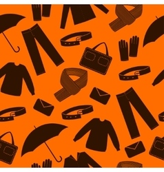 Mens wear and accessories shapes background vector