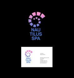 Nautilus spa logo helix emblem vector