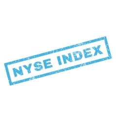 Nyse Index Rubber Stamp vector