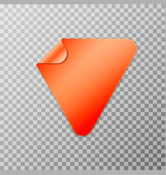 orange triangle peel off paper sticker vector image