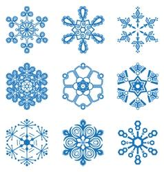 Original snowflakes set vector image