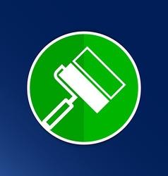 Paint roller icon Flat logo symbol vector image