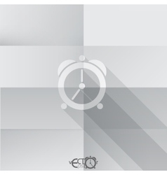 Paper Clock Icon vector image