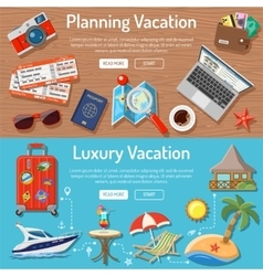 Planning Luxury Vacation Concept vector image