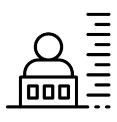 prison photo height icon outline style vector image