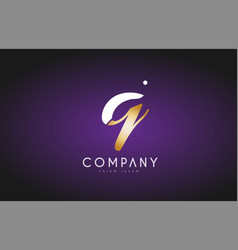 q alphabet letter gold golden logo icon design vector image