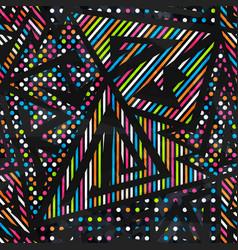 Rainbow geometric seamless pattern vector