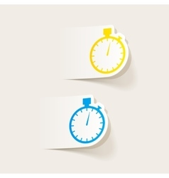 realistic design element stopwatch vector image