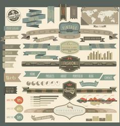 retro vintage style website vector image