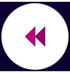 rewind computer symbol vector image