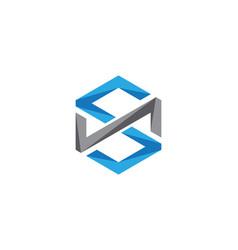 s logo hexagon icon vector image