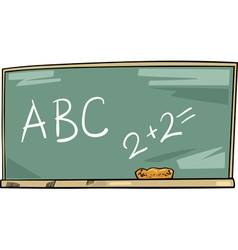 School blackboard cartoon vector