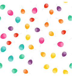 seamless pattern holiday background with balloons vector image